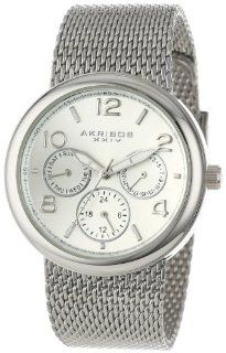 Akribos XXIV Women's AK559SS Quartz Multi Function Stainless Steel Mesh Bracelet Watch Akribos XXIV Watches