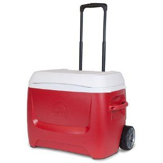 Igloo Island Breeze 60 Quart Roller Cooler (Lava Red, 25.562 x 14.062 x 14.125 Inch)  Coolers With Wheels  Sports & Outdoors