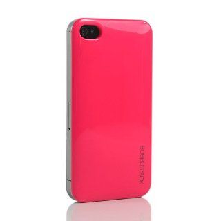 ZuGadgets Dark Pink Sleek Candy Colors Plastic Hard Case Cover Skin For iPhone 4S / 4 + Free Screen Protector and Charge USB Cable (7364 2) Cell Phones & Accessories
