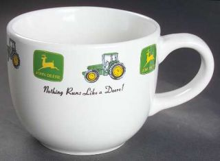 Gibson Designs John Deere (Tractor) Latte Mug, Fine China Dinnerware   Green&Yel