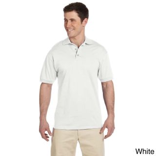 Jerzees Mens Heavyweight Cotton Jersey Polo Shirt White Size XXL