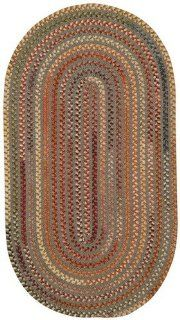 Grey Oval Indoor/Outdoor Striped rug by Capel Briar Wood in 2'x3'   Area Rugs
