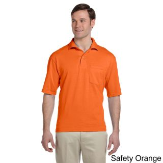 Jerzees Jerzees Mens Clean finished Pocket Polo Sport Jersey Orange Size XXL