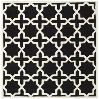 Safavieh Chatham Black Handmade Moroccan Wool Area Rug (89 Square)