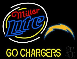 "Miller Lite San Diego Chargers Neon Sign 24"" Tall x 31"" Wide x 3"" Deep  Business And Store Signs"