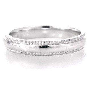 14k White Gold Comfort Fit Antique Vintage Style Wedding Band Ring Jewelry