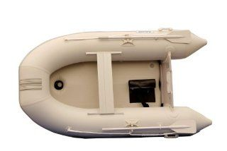 Aquos 0.9mm PVC 8.8 Feet Inflatable Boat Raft Dinghy Tender with Air Deck Floor  Gray    Open Water Inflatable Rafts  Sports & Outdoors