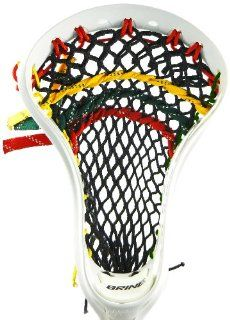 Stick Doctor Lacrosse Mesh Stringing Kit   Rockin' Rasta (Black/Red/Green/Yellow Gold)  Strung Lacrosse Heads  Sports & Outdoors