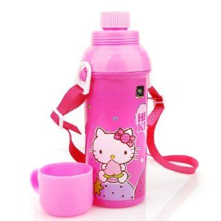 Hello Kitty Sanrio Water Bottle with Velcro Lanyard Holder  Sports Water Bottles  Sports & Outdoors