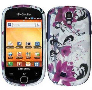 Purple Lily Hard Case Cover for Samsung Galaxy Q T589 Cell Phones & Accessories