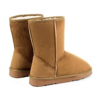 Generic New Hot Fashion Women/Girls Winter Warm Mid calf Snow Cold Weather Ugg Boots Shoes (38, camel) Beauty Products Shoes
