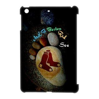 Diystore Fitted iPad Mini case MLB Boston Red Sox Artistic Stone Feet logo back covers Computers & Accessories