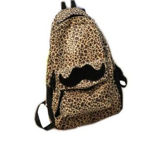 New Cool Sexy Leopard Funny Mustache Laptop Book Travel Hiking Backpack Fashion Men Women Girl Boy School Double Shoulder Bag Sports & Outdoors