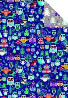 Owls Reversible Rolled Christmas Gift Wrapping Paper Health & Personal Care