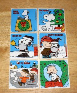 Peanuts Snoopy Set of 6 Large Christmas Stickers by Sandylion Toys & Games