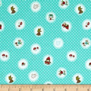 Riley Blake Little Red Riding Hood Little Scallops Aqua Fabric