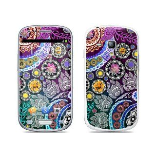 Mehndi Garden Design Protective Decal Skin Sticker (High Gloss Coating) for Samsung Galaxy S III (Galaxy S3) Mini GT i8190 Cell Phone Cell Phones & Accessories
