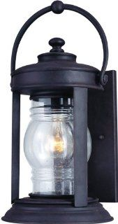 Troy Lighting B1412NR Station Square 1 Light Outdoor Wall Lantern, Natural Rust Finish with Seeded Glass   Wall Porch Lights