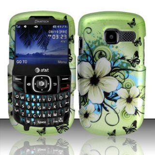 Pantech Link II P5000 Case (AT&T) Glamorous Flower Design Hard Cover Protector with Free Car Charger + Gift Box By Tech Accessories Cell Phones & Accessories