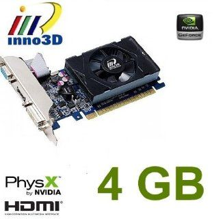 Inno3D nvidia Geforce GT630 4GB DDR3 HDMI DVI VGA video graphics card PCI express pcie x16 HD 1080P windows 7/vista/XP Computers & Accessories