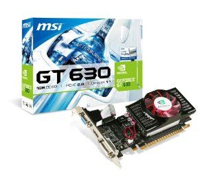 MSI NVIDIA GeForce GT 630 1GB DDR3 VGA/DVI/HDMI Low Profile PCI Express Video Card N630 1GD3/LP Computers & Accessories