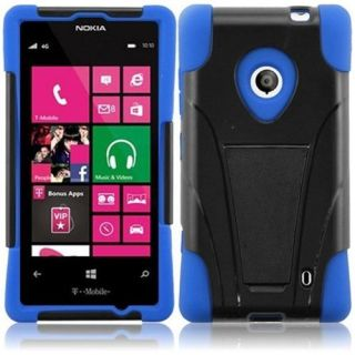 INSTEN For Nokia Lumia 521 T Stand Case Black /Dark Blue Accessories