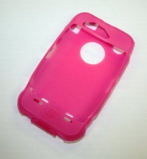 Hot Pink Silicone Cover Compatable for Otterbox Defender Case 3g 3gs Cell Phones & Accessories