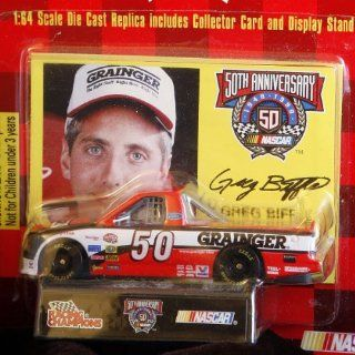 NASCAR 50th Anniversary   Racing Champions   164 Scale Die Case Replica, Collector Card, Display Stand   Greg Biffle #50      Craftsman Truck   Ford F 150 Pick Up Toys & Games