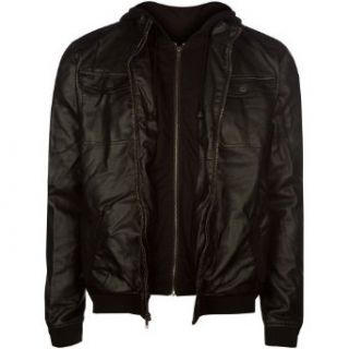 CHOR Creeper Mens Faux Leather Jacket at  Men�s Clothing store