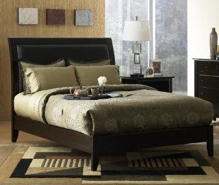 Modus Furniture City II California King Size Leatherette Low Profile Sleigh Bed, Coco Home & Kitchen