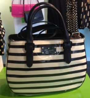 Kate Spade New York Carlisle Street Sylvie Handbag Black Striped Shoes