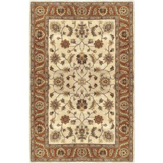 Shop 6' x 9' Fresnillo Raw Sienna Orange and Khaki Green Wool Rectangular Area Rug at the  Home D�cor Store. Find the latest styles with the lowest prices from CC Home Furnishings