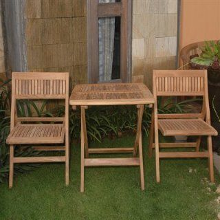 Windsor Square Table Outdoor Bistro Set By Anderson Teak  Outdoor And Patio Furniture Sets  Patio, Lawn & Garden
