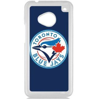 MLB Major League Baseball Toronto Blue Jays HTC One M7 Hard Plastic Black or White case (White) Cell Phones & Accessories