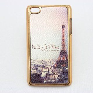piaopiao eiffel tower classic leather crystal hard Case cover for apple ipod touch 4 gen 4g 4th Cell Phones & Accessories