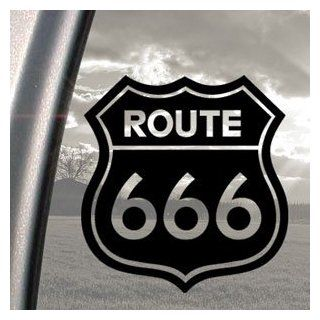 Route 666 Satanic Rob Zombie Devil Black Decal Car Sticker Automotive