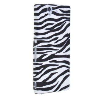 "Generic Soft TPU Gel Case Cover for Sony Xperia Z L36h L36i C6603 C660X 5.3"" x 2.9"" x 0.4"" Zebra Cell Phones & Accessories"
