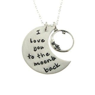I Love You to the Moon Necklace, Crescent Moon Design Jewelry
