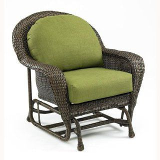Outdoor Great Room Balsam Collection Deep Seating Glider Chair with Spectrum Cilantro Cushions  Patio Gliders  Patio, Lawn & Garden