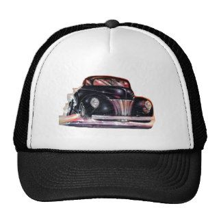 Fire spewing hot rod tee shirts mesh hats