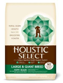 Holistic Select Large and Giant Breed Puppy Health Lamb and Oatmeal Recipe Dry Dog Food, 15 Pound Bag  Dry Pet Food