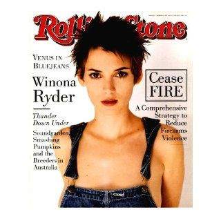 Rolling Stone Magazine March 10, 1994 Issue No.677 Winona Ryder Cover Books