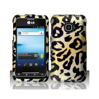 Yellow Cheetah Hard Cover Case for LG Optimus 2 II AS680 Cell Phones & Accessories