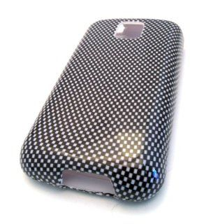 MetroPCS LG MS690 Optimus M Black Carbon Fiber Gloss Design Accessory Case Skin Cover HARD Cell Phones & Accessories