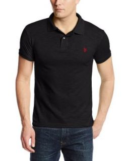 U.S. Polo Assn. Men's Slim Fit Cotton Slub Solid Polo at  Men�s Clothing store