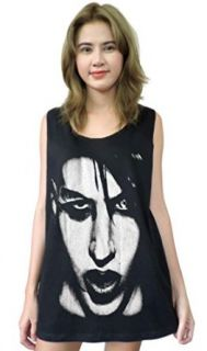 Wolfthia7 Men's Marilyn Manson Face Tank Top Clothing