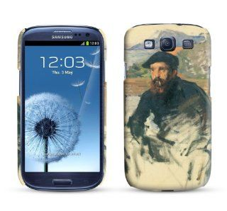 Samsung Galaxy S3 Case Self Portrait in His Atelier 1884 Claude Monet Cell Phone Cover Cell Phones & Accessories