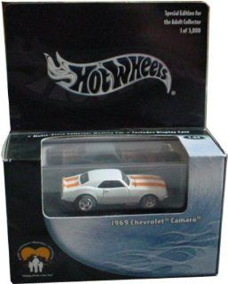 Hot Wheels 100% CHARITY 1969 Chevrolet Camaro Black Box LIMITED EDITION White & Orange 164 Scale Collectible Die Cast Car Toys & Games