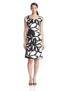 Jones New York Women's Cap Sleeve Printed Dress