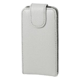 Ash Gray Textured Faux Leather Magnetic Clip Pouch Case for iPhone 3G Cell Phones & Accessories